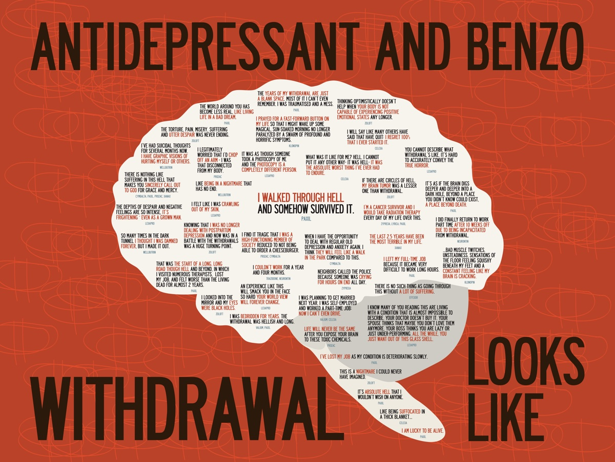"""Antidepressant and Benzo Withdrawal Looks Like,"" by Kelly Davis"