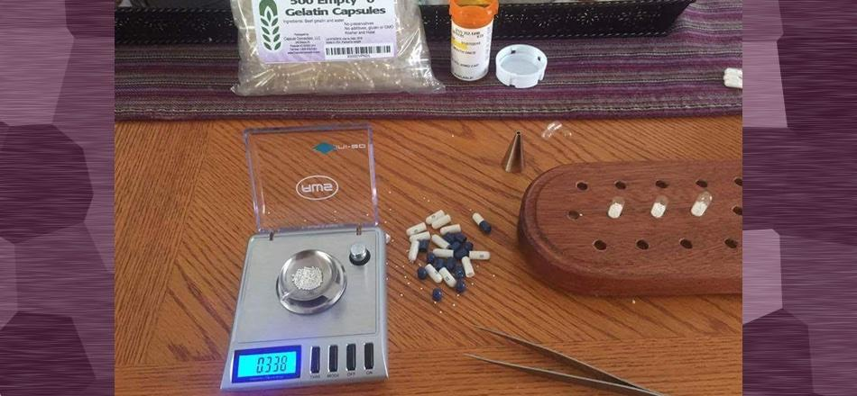 gear for weighing beads on a digital scale