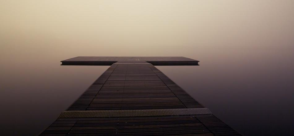 dock over calm water